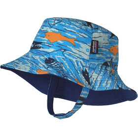Patagonia Baby Sun Bucket Hat Fishy Fun: Electron Blue